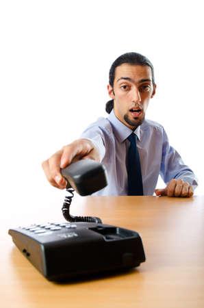 Businessman talking on the phone Stock Photo - 10925225