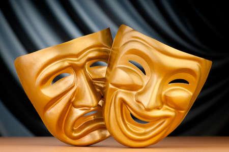 극장 컨셉과 마스크 스톡 콘텐츠