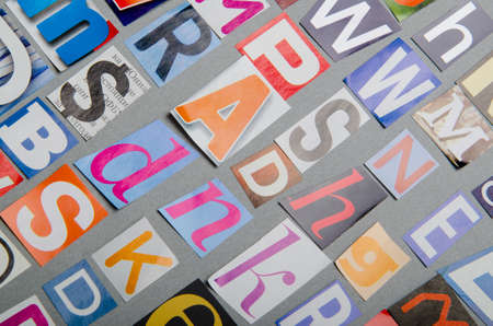 Cut letters from newspapers and magazines Stock Photo - 10915171