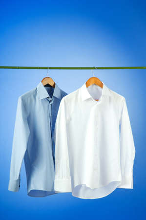 hangers: Male shirt against gradient background