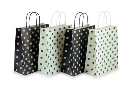 白で隔離されるショッピング バッグ 写真素材