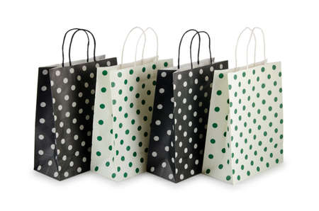 Shopping bags isolated on white photo