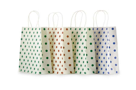 Shopping bags isolated on white Stock Photo - 10959738