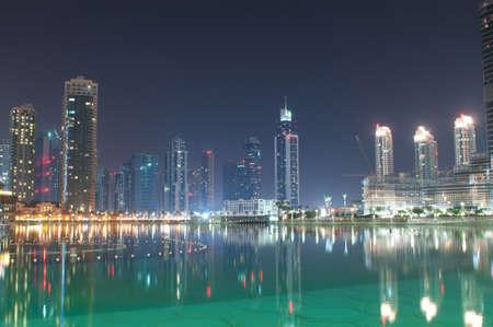 Dubai view at night time
