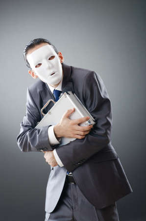 Industrial espionate concept with masked businessman Stock Photo - 10959993