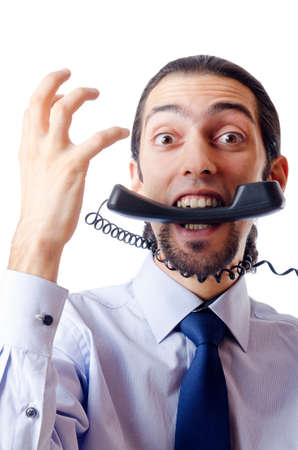 Angry businessman on the phone Stock Photo - 10969912