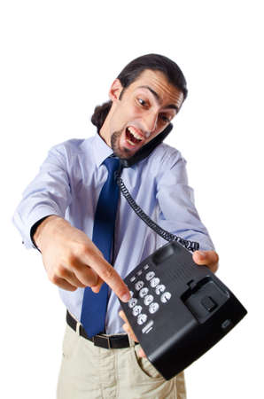 Angry businessman on the phone Stock Photo - 10969164