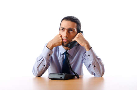 Businessman talking on the phone Stock Photo - 10968850