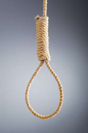 execution: Rope noose against gradient background