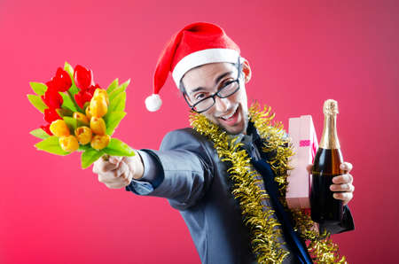 Drunken businessman after office christmas party Stock Photo - 10969658