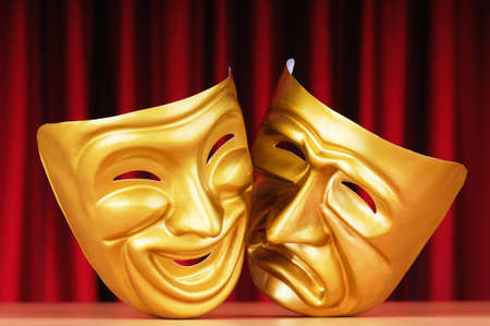 Masks with the theatre concept Stock Photo - 10959163