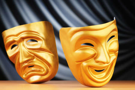 Masks with the theatre concept Stock Photo - 10959073
