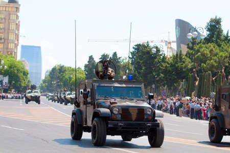 BAKU - 26 June 2011 - Miliatary Parade in Baku, Azerbaijan on Army Day