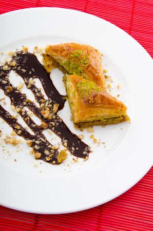 piecies: Sweet dessert in the plate