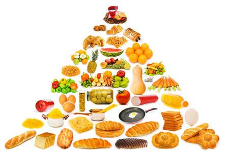 piramide alimenticia: Pir�mide de alimentos con gran cantidad de art�culos