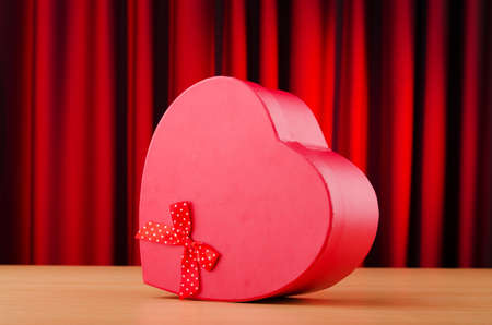 Heart shaped gift box against background Stock Photo - 10959000