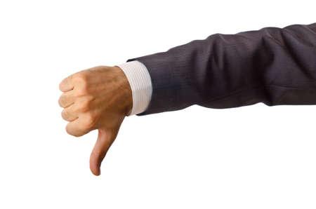 Zakenman die lege handen Stockfoto