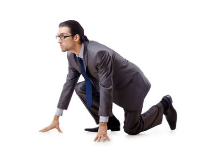 Businessman running for success Stock Photo - 10968386