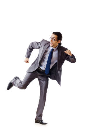 Businessman running for success Stock Photo - 10968352