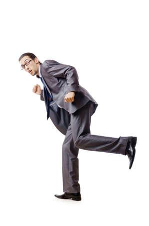 Businessman running for success Stock Photo - 10968351
