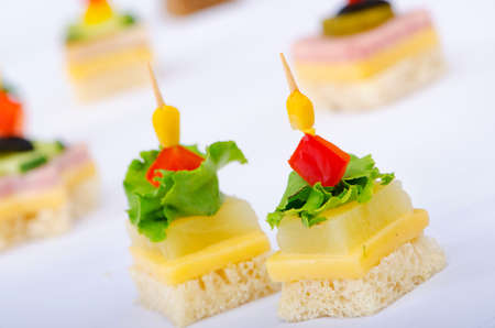 canape: Selection of various canape