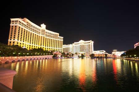 Las Vegas - 11 Sep 2010 - Bellagio Hotel Casino während des Sonnenuntergangs Editorial