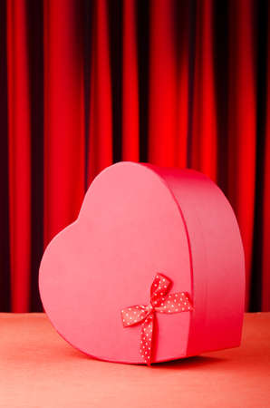 Heart shaped gift box against background Stock Photo - 11075410