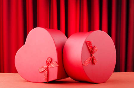 Heart shaped gift box against background Stock Photo - 11075362