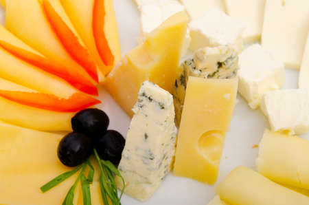 cheese platter: Cheese platter with selection