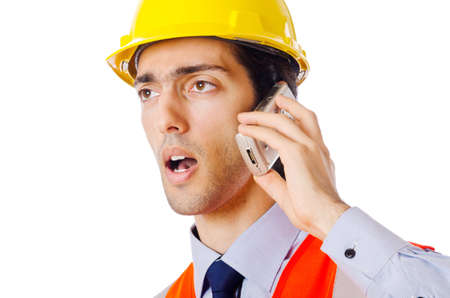 Young construction worker with hard hat Stock Photo - 11126487