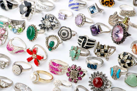 Selection of many precious rings Stock Photo - 11078228