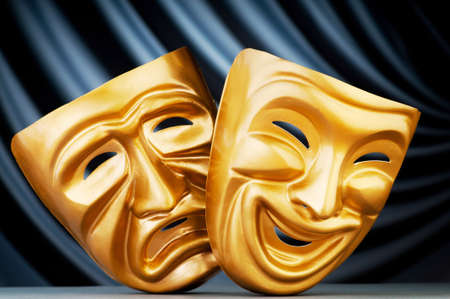 Masks with the theatre concept Stock Photo - 11075189