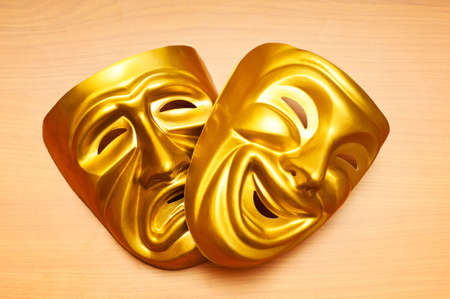 Masks with the theatre concept Stock Photo - 11074906
