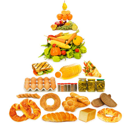 piramide alimenticia: Pirámide de los alimentos con gran cantidad de artículos