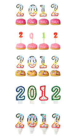 2012 made with cake candles photo