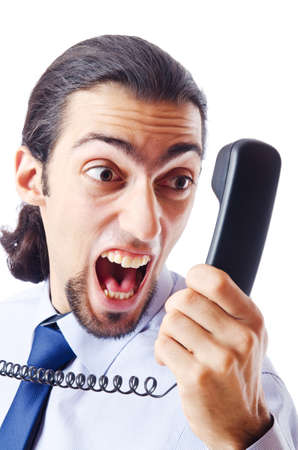 Angry businessman on the phone Stock Photo - 11156652