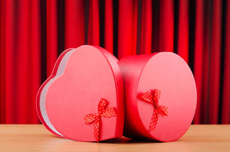 Heart shaped gift box against background Stock Photo - 11130085
