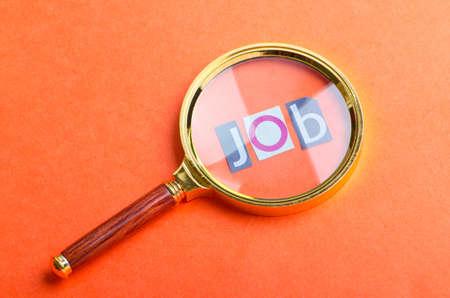 vacante: El desempleo concepto con lupa