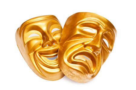 drama masks: Masks with the theatre concept
