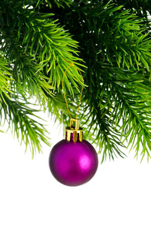 Christmas concept with baubles on white Stock Photo - 11129887