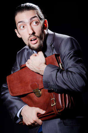 Business spy with briefcase Stock Photo - 11156862