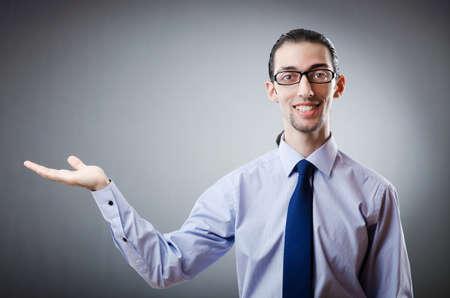 Businessman holding empty hands Stock Photo - 11156727