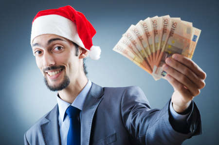 Santa with euro banknotes photo