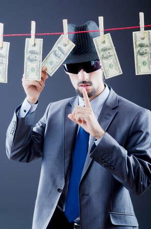 Criminal laundering dirty money photo