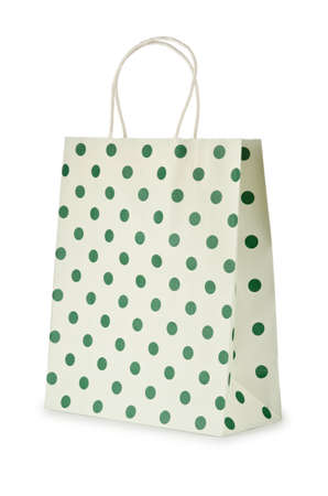 Shopping bag isolated on the white Stock Photo - 11129542