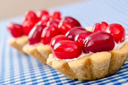 piecies: Pastries with berries in the plate Stock Photo