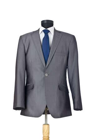 traje: Traje masculino aislado en el blanco