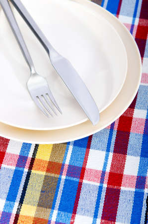Empty plate with utensils Stock Photo - 11181164