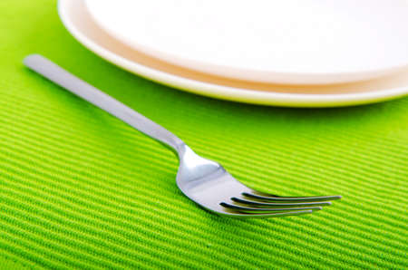 Empty plate with utensils Stock Photo - 11181270