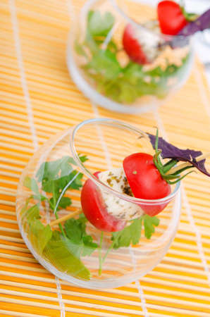 canape: Appetisir served in the plate